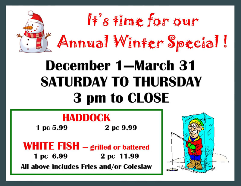 Fall Winter Hours